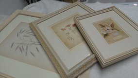 3 GRADUATED FRAMES: ROSES & MAGNOLIA FLOWERS MATTED BEAUTIFULLY in Naperville, Illinois