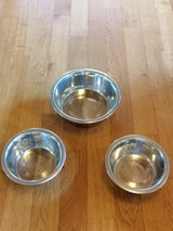 Set of three pet food bowls in Ramstein, Germany