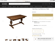 VINTAGE DRAW LEAF DINING TABLE 1900s in 29 Palms, California