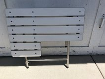 Folding seat for shower or boat seat heavy duty stainless steel adjustable frame multiple applic... in Camp Pendleton, California