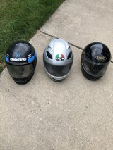 3 MOTORCYCLE SNOWMOBILE OR ANYTHING HELMETS in Naperville, Illinois