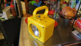 Vintage US Navy Roflan Yellow Portable Battle Emergency Spot Light Lantern in Okinawa, Japan