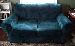 Turquoise Loveseat Cover in Moody AFB, Georgia