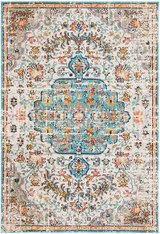 New Turquoise Medallion Rug 5x7 in Moody AFB, Georgia