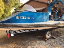 14P hovercraft homebuilt includes trailer and extra parts fair condition will sell boat separate in Travis AFB, California