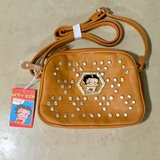 Brand New Betty Boop Brown Faux Leather Bling Handbag Shoulder Bag Purse in Travis AFB, California