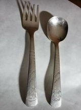 Vintage Campbells Soup Kids fork & spoon in Plainfield, Illinois