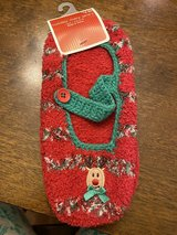 NWT Reindeer Slipper Socks in Aurora, Illinois