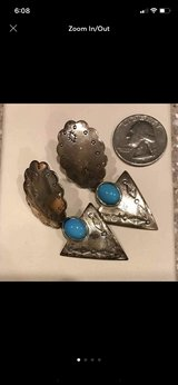 vintage Native American Sterling Turquoise Earrings in Stuttgart, GE