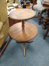 Round Wood Two Tier Side Table in Bartlett, Illinois