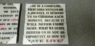 Inspirational quotes on wooden frame in Ramstein, Germany