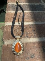 Gold and Orange necklace in Bartlett, Illinois