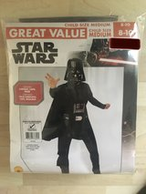 New, Never Used!  Star Wars Darth Vader Costume Sz 8-10 in Chicago, Illinois