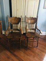 Solid oak dining room chairs in Beaufort, South Carolina