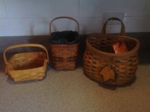 Two Longaberger and one fall baskets in Bartlett, Illinois