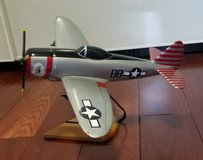"""Hard Carved & Painted Model, Republic P47 Thunderbolt 16"""" wingspan in St. Charles, Illinois"""