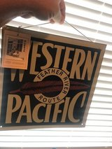 "Western Pacific Railroad tin sign 12"" x 12"" (item#57) in Cleveland, Texas"