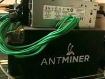 Bitmain Antminer S3 ASIC sha256 miner 310Gh/s, with power supply in Fort Lewis, Washington