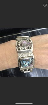 Beautiful Silver Aztec Abolone Bracelet in Stuttgart, GE