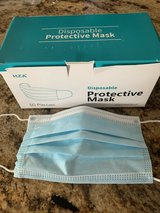 Box of 50 Protective Disposable Face Masks - Ear Loop in Clarksville, Tennessee
