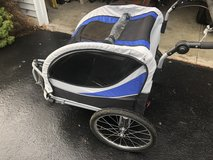 Double bike trailer and stroller in Chicago, Illinois