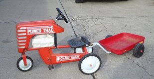 AMF Vintage Pedal Tractor and Trailer in Chicago, Illinois