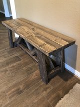 Farm house bench new in The Woodlands, Texas