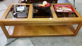 Coffee table-Wood and Glass in Fort Campbell, Kentucky