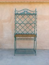 Large Iron Wrought Tuscan style side board with wine rack-Like New condition in Yucca Valley, California