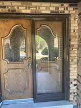 Vintage Oak Double Entry Doors in Orland Park, Illinois