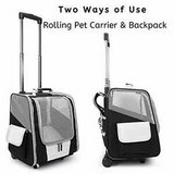 Rolling Pet Carrier and Backpack in Nellis AFB, Nevada
