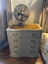Antique wooden dresser in Chicago, Illinois