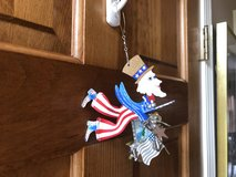 Hanging Metal Uncle Sam Ornament in St. Charles, Illinois