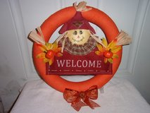 Fall wreath, scarecrow pumpkins, bow. in Fort Hood, Texas