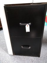 Black 2 Drawer File Cabinet in St. Charles, Illinois
