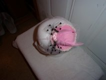 Fascinator hat Hair decoration, 1920's rockabilly. Pink tulle, mini roses, tiny pearls. feather. in Fort Hood, Texas
