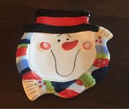 Small Snowman Plate in Chicago, Illinois
