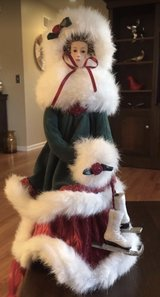 Ice Skater Tree Topper in Chicago, Illinois