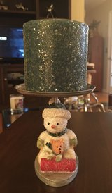 Snowman Candleholder/Candle in Naperville, Illinois