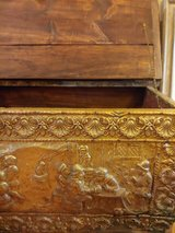 Hammered copper whisky chest in Beaufort, South Carolina