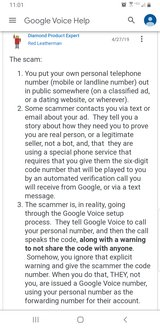Scammers are asking you for a verification code? in Warner Robins, Georgia