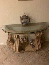 Coffee table set of 3 Round + half moon decorating table. in Fairfield, California