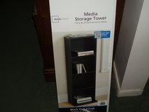 Mainstays Media Storage Tower - Black Oak Finish in Naperville, Illinois