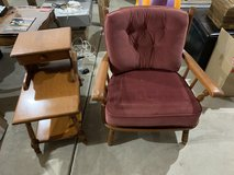 Heywood Wakefield Chair and end table in St. Charles, Illinois