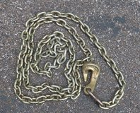 8 Foot, Heavy Duty Single Hook Tow Chain, REDUCED in Fort Campbell, Kentucky