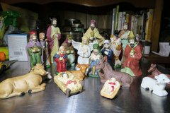 ceramic nativity figurines 21 piecs in Okinawa, Japan