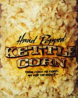 Fresh popped kettle corn in bookoo, US