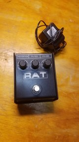 RAT Distortion pedal w/ power cable in Alamogordo, New Mexico