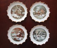 4 Currier & Ives Decorative Plates in Tomball, Texas