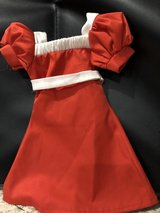 """American Girl 18"""" red/white """"Annie"""" dress in Naperville, Illinois"""